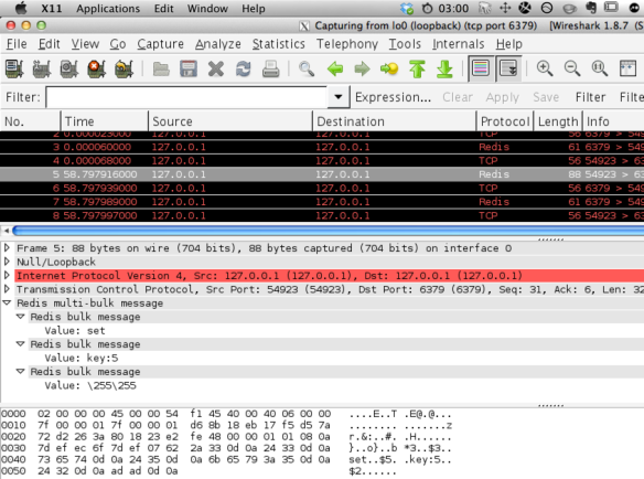 Monitoring Redis with MONITOR and WireShark | HighContrast
